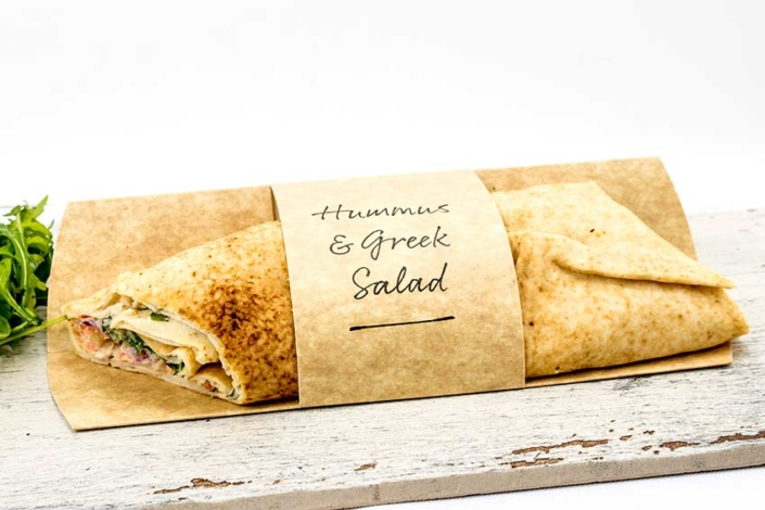 Coffee Shop Suppliers Humus Greek Salad Wrap
