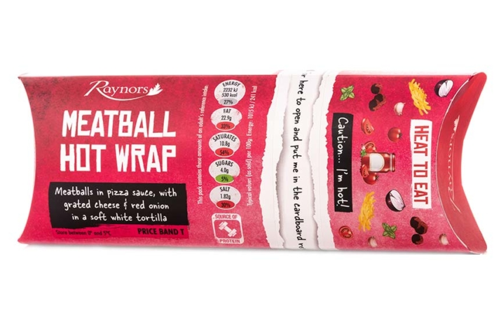 Meatball hot wrap