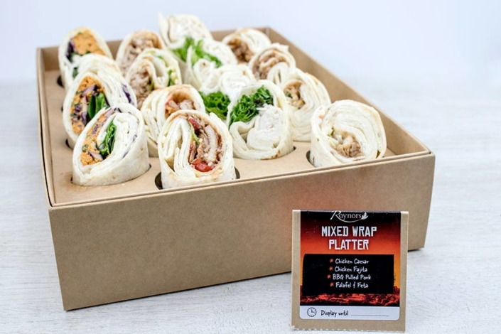 Sandwich platter delivery mixed wrap platter