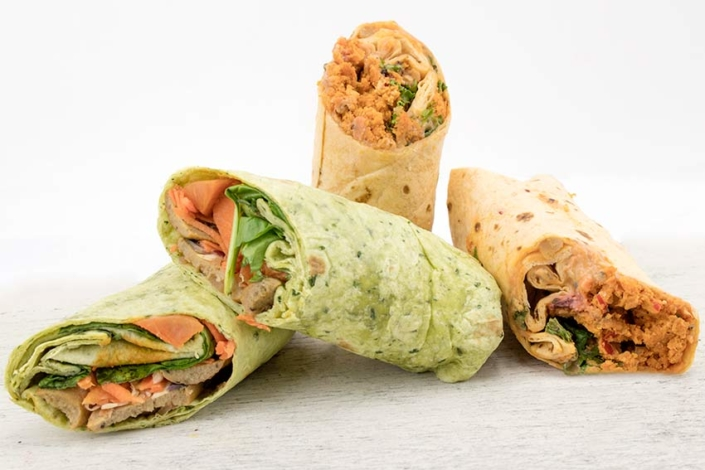 Vegan wrap selection